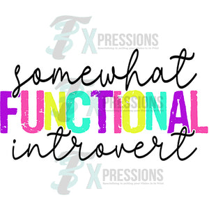 Some what Functional Introvert