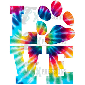 Love Animal tie-dye