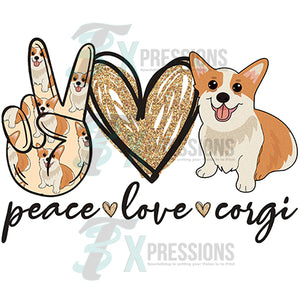 Peace Love Corgi