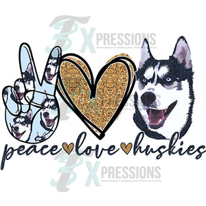 Peace Love Huskies