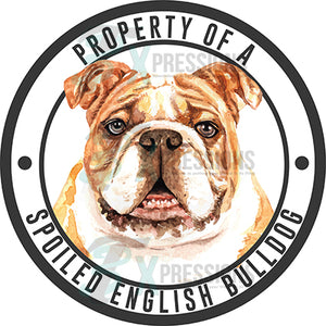Property of a Spoiled English Bulldog