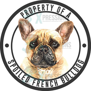 Property of a Spoiled French Bulldog