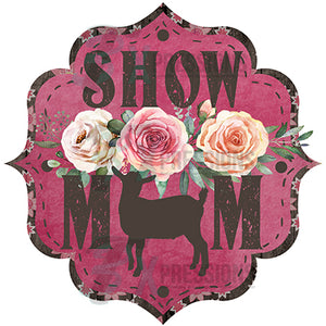Show Mom Goat Brown and Hot Pink Floral