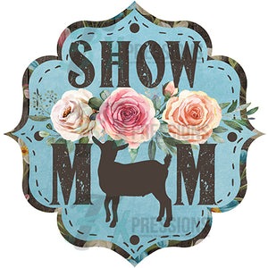 Show Mom Goat Brown and Light Blue Floral