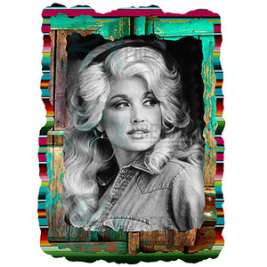 Serape Background Dolly Parton