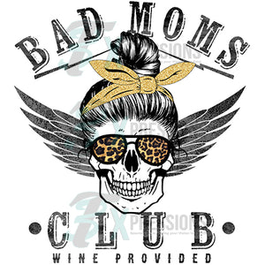 Bad Moms Club with skull