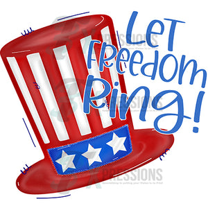 Let Freedom Ring Patriotic Hat