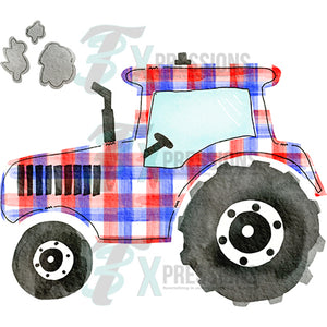 Red White and Blue Tractor