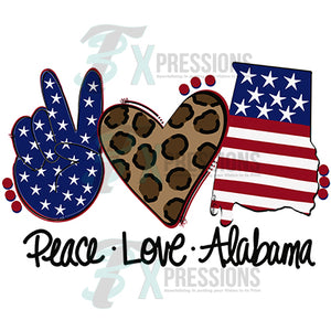 Peace Love Alabama