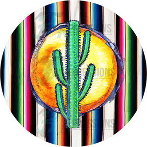 Water Color Cactus sunrise