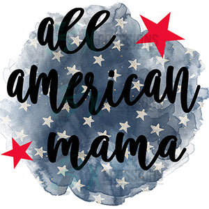 All American Mama star background