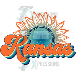 Kansas Vintage Sunflower