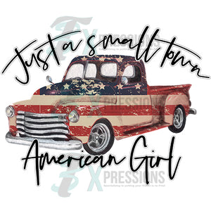 Just a Small Town American Girl Truck
