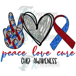 Peace Love Cure CHD awareness