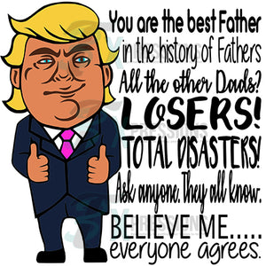 Best Father Donald Trump caricature