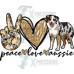 Peace love Australian Shepherd