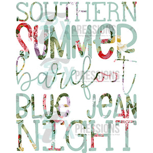 Souther Summer Barefoot blue jean night