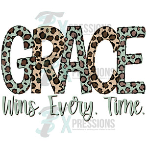 Grace wins every time Leopard