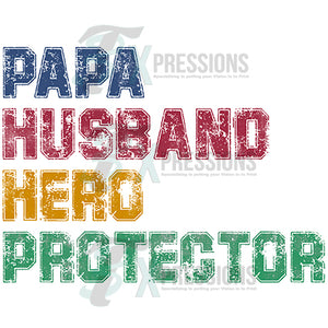 Papa Husband Hero Protector