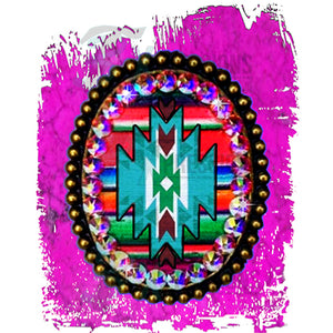 Aztec with Hot pink Background
