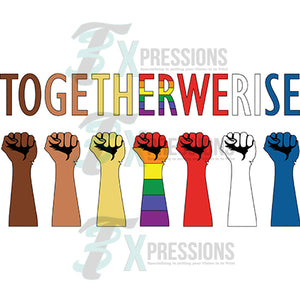 Together we rise Closed Fist