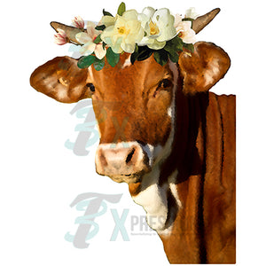 Cow with Magnolia Crown