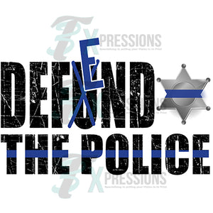 Defend the Police 6 point star