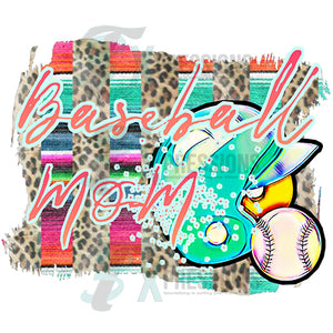 Serape Baseball Mom