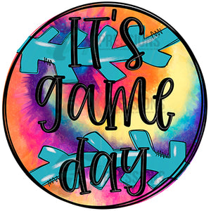 It's Game Day baseball tie-dye