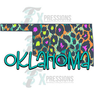 Oklahoma multi color leopard