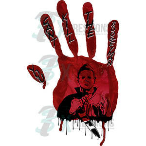 Michael Meyers Bloody Hand