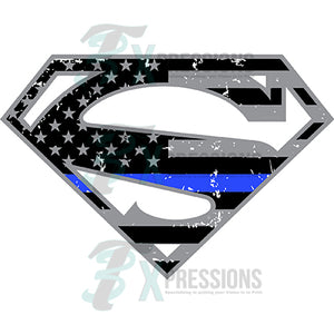 Usa Superman Blue Line, police