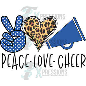 Peace Love Cheer Navy Blue