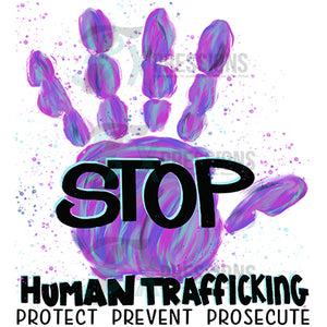 Stop trafficking hand