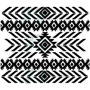 Black Tribal print
