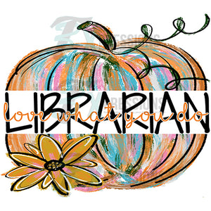 Librarian Painted Pumpkin