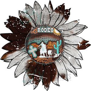 Tooled Leather Rodeo Sunflower