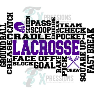 Lacrosse word art