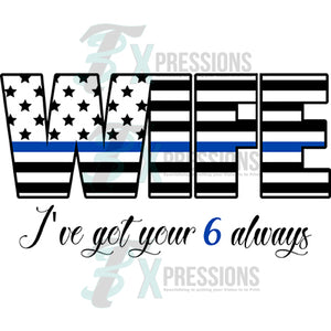 Thin blue line wife flag, Police
