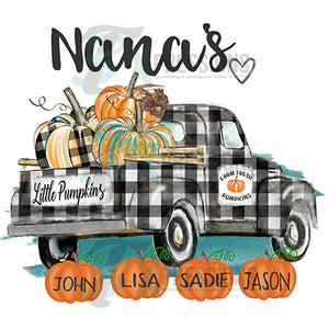 Personalized Little Pumpkins Fall Truck