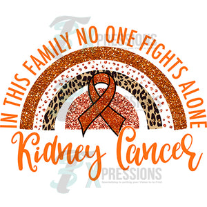Kidney Cancer Rainbow Orange