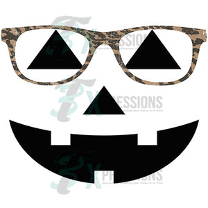 Pumpkin with glasses