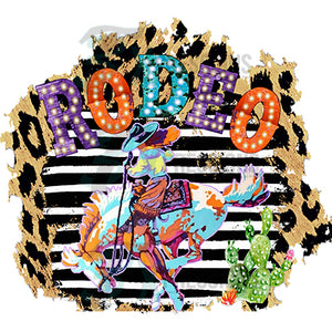 Rodeo leopard background