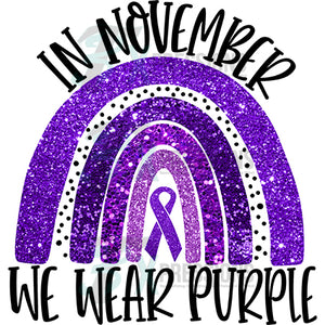 In November we wear purple
