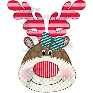 Girl Reindeer applique