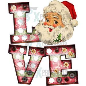 Marquee letter Love Santa