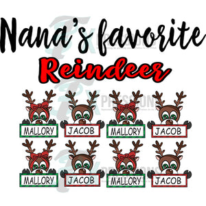 Personalized Favorite Reindeer