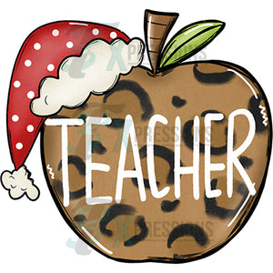 Christmas Teacher Apple