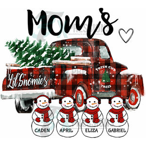 Personalized Snowman Truck Snomies