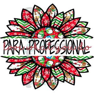 Para Professional Split Christmas Sunflower with snowmen